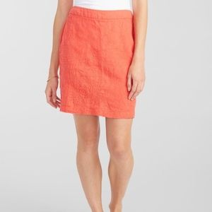 TOMMY BAHAMA Linen Coral Embroidered Skirt